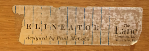 PAUL MCCOBB MAHOGANY 'DELINEATOR' BACHELOR'S CHEST FOR LANE