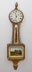 Federal Mahogany and Parcel-Gilt Banjo Clock