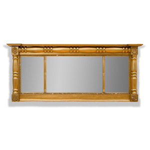 Classical Giltwood Overmantle Mirror