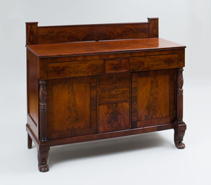 Classical Carved Mahogany Sideboard, New York