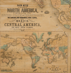 Map of North America, 1852