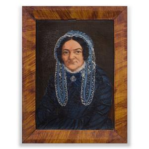 American School: Portrait of a Woman in a Bonnet
