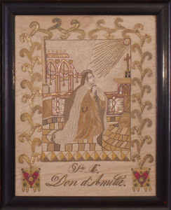 SPANISH SILKWORK PANEL 'SRA. DON DI AMILIE'