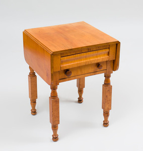 Classical Tiger Maple Work Table