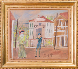 20TH CENTURY SCHOOL: FIGURES ON THE STREET