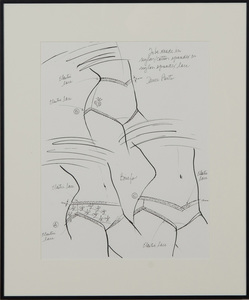 ANTONIO LOPEZ (1943-1988): LINGERIE DESIGNS: SEVEN SKETCHES