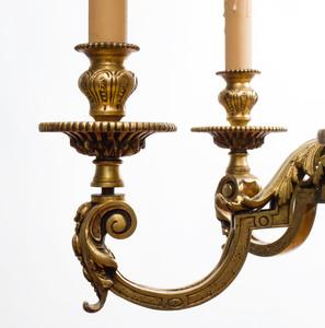 George III Style Bronze Chandelier