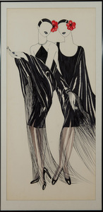 ANTONIO LOPEZ (1943-1988) AND JUAN RAMOS (1942-1995): FASHION SKETCH FOR AMERICAN VOGUE