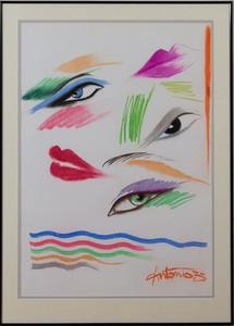 ANTONIO LOPEZ (1943-1988) AND JUAN RAMOS (1942-1995): EYES + LIPS