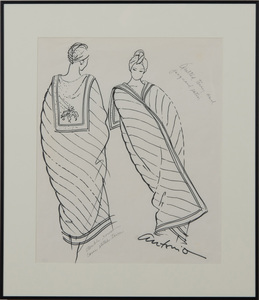 ANTONIO LOPEZ (1943-1988): SILK PAJAMAS; LOUNGE WRAP COAT; QUILTED TERRY AND JACQUARD SATIN; AND A SHORT TERRY BATHROBE