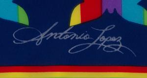 ANTONIO LOPEZ (1943-1988) AND JUAN RAMOS (1942-1995): FOUR FABRIC SAMPLES (BUTTERFLIES)