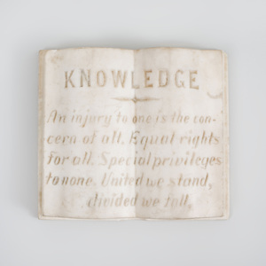 Carved Marble Book Knowledge