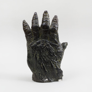 Black-Painted Plaster Model of an Open Hand