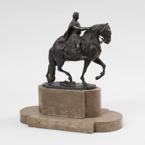 Continental Bronze of an Equestrian Soldier