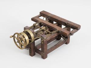 Brass-Mounted Oak and Steel Patent Model