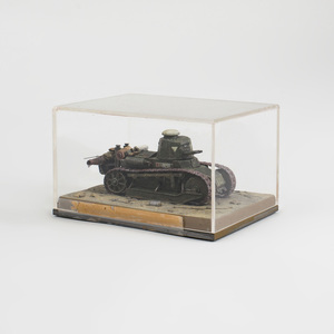 Painted Composite Model of World War I Tank