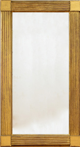 Pair of Monumental American Federal Giltwood Pier Mirrors