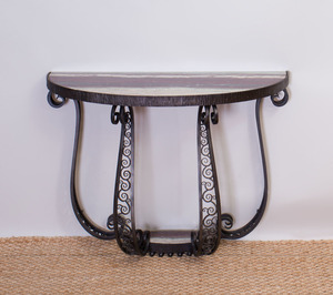 Art Deco Style Wrought-Iron Console Table