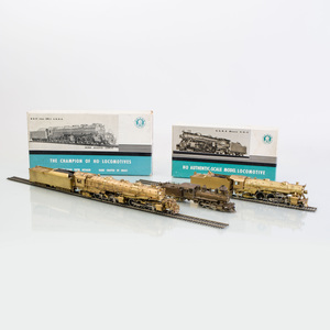 Two Japanese Brass Akane 'Ho' Scale Models of Locomotives