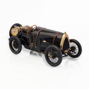Fine Art Model Tin Plate and Brass Model of a Bugatti Brescia