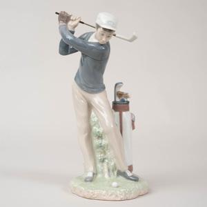 Lladro Porcelain Figure of a Golfer
