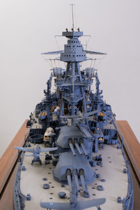 Fine Art Model Painted Metal, Wood, and Composite Model of the USS Arizona