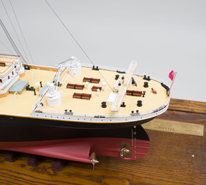 Fine Art Model Composite and Wood Model of RMS Titanic