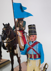 Group of Five French and Painted Lead Military Figures