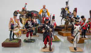 Group of Fifty-Four English and Continental Miniature Painted Lead Military and Historical Figures
