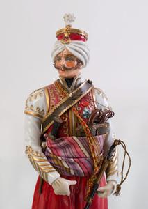 Four Sitzendorf Porcelain Military Figures