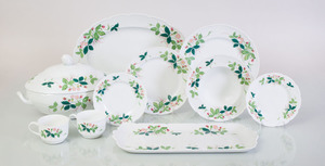 TWENTY-FOUR PIECE LIMOGES PORCELAIN PART SERVICE IN THE 'GEORGE SAND' PATTERN