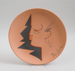 JEAN COCTEAU (1889-1963): PROFILE ROUGE