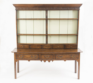 WELSH CARVED OAK DRESSER