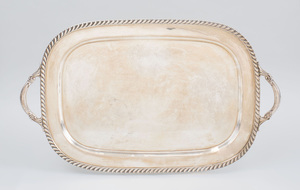 Reed and Barton Sterling Silver Two-Handled Tray in the 'Stratford' Pattern