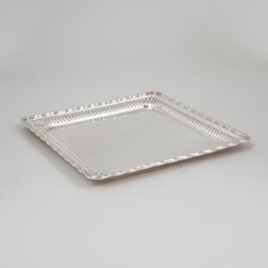 Tiffany & Co. Silver Plate Square Tray
