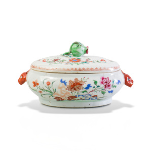 Chinese Export Porcelain Sauce Tureen