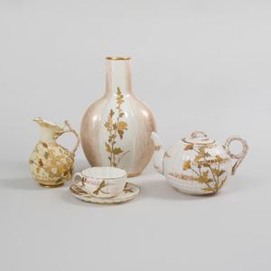 Four Belleek Porcelain Table Articles