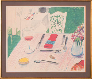 AFTER DAVID HOCKNEY (b. 1937): TABLE, MA MAISON