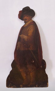 VICTORIAN STYLE PAINTED WOOD DUMMY BOARD FIGURE