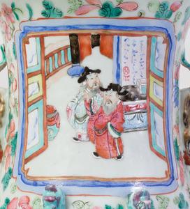 CHINESE FAMILLE ROSE PORCELAIN BALUSTER VASE