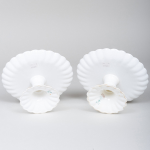 Pair of Crown Staffordshire Porcelain Fluted Compotes
