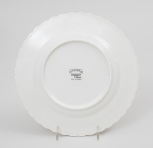 Set of Thirty-Two Syracuse Porcelain Plates in the 'Viking' Pattern