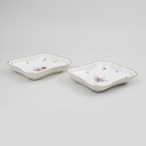 Pair of Amstel Porcelain Shaped Serving Dishes
