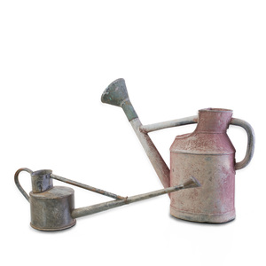 Two American Galvanized Metal Watering Cans