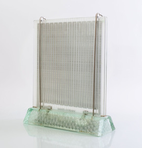 René André Coulon 'Radiavers' Glass Heater for St. Gobain Refitted as a Lamp
