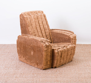 FRANK GEHRY LAMINATED CARDBOARD 'LITTLE BEAVER' CHAIR