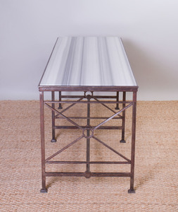 FRENCH METAL CENTER TABLE