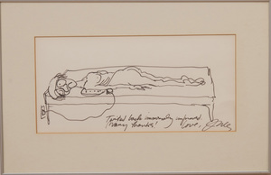 JULES FEIFFER (b. 1929): TWISTED BACK IMMENSELY IMPROVED