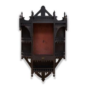 Aesthetic Movement Ebonized Hanging Cabinet