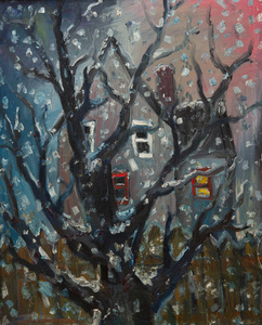 CHUCK CONNELLY (b. 1955): HOUSE IN FLURRIES
